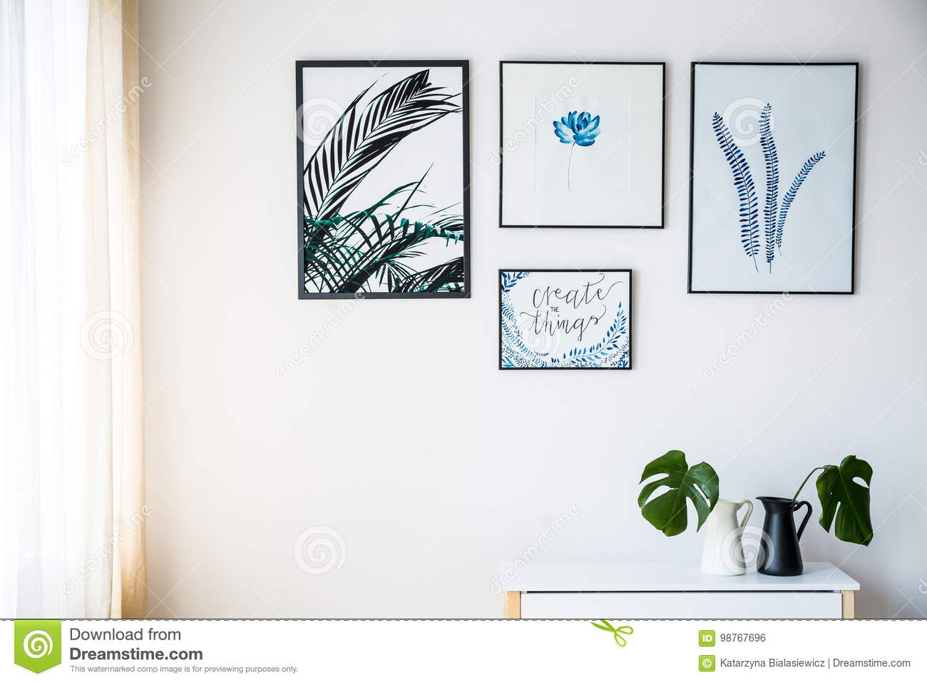 Pictures with plants motif