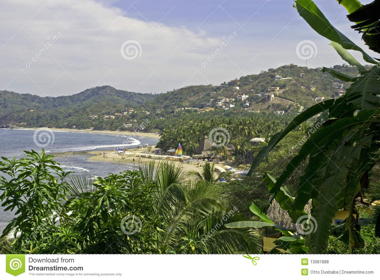 Picturesque beach on the Mexican Pacific Ocean