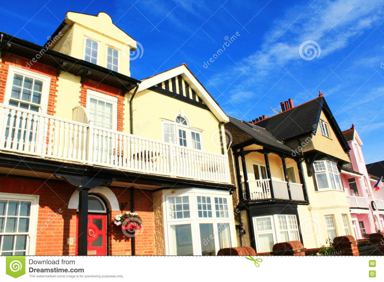 Picturesque English Houses Stock Photo - Image: 77881966