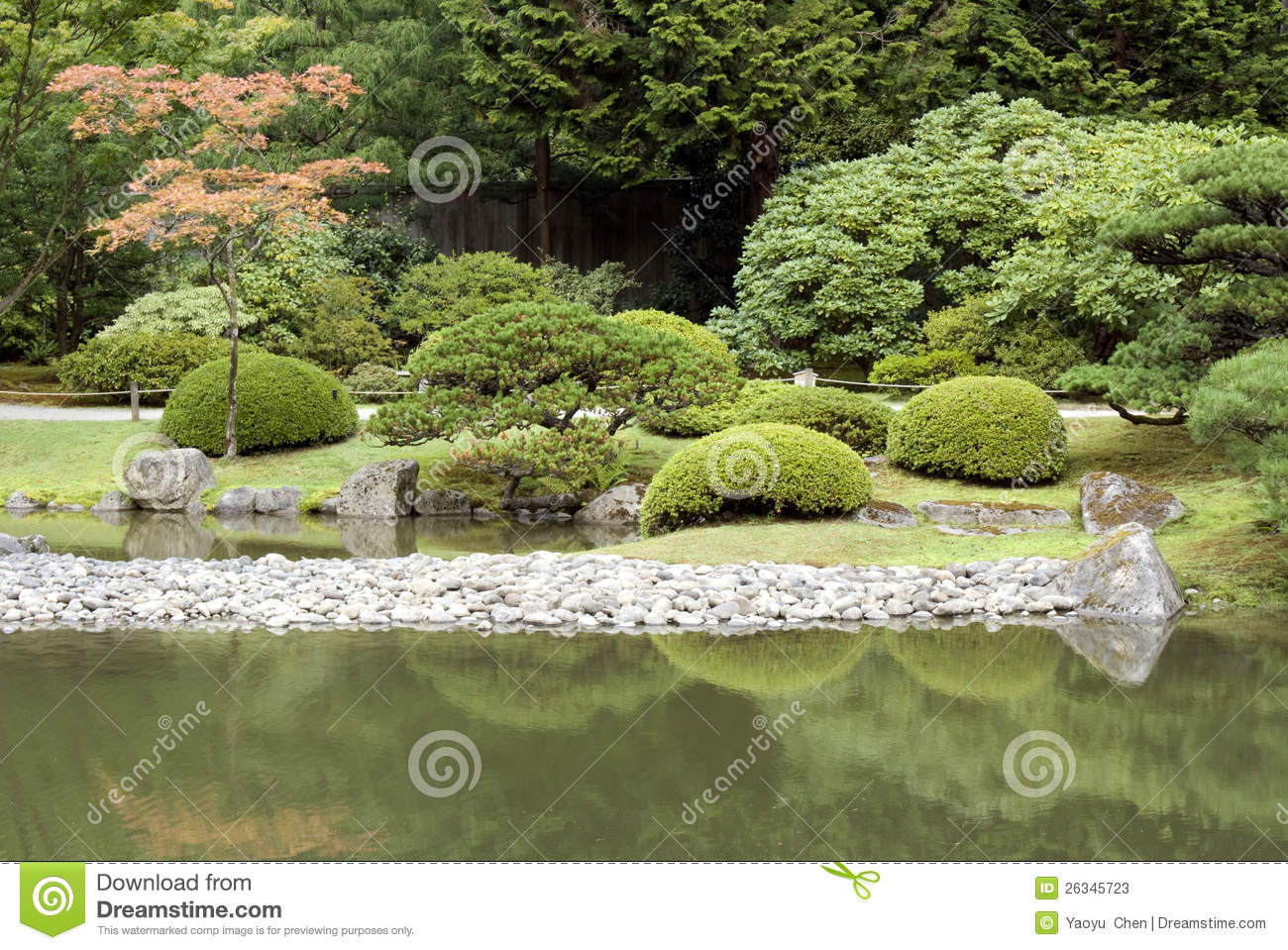 Japanese garden and pond royalty free stock photography for Japanese garden pool