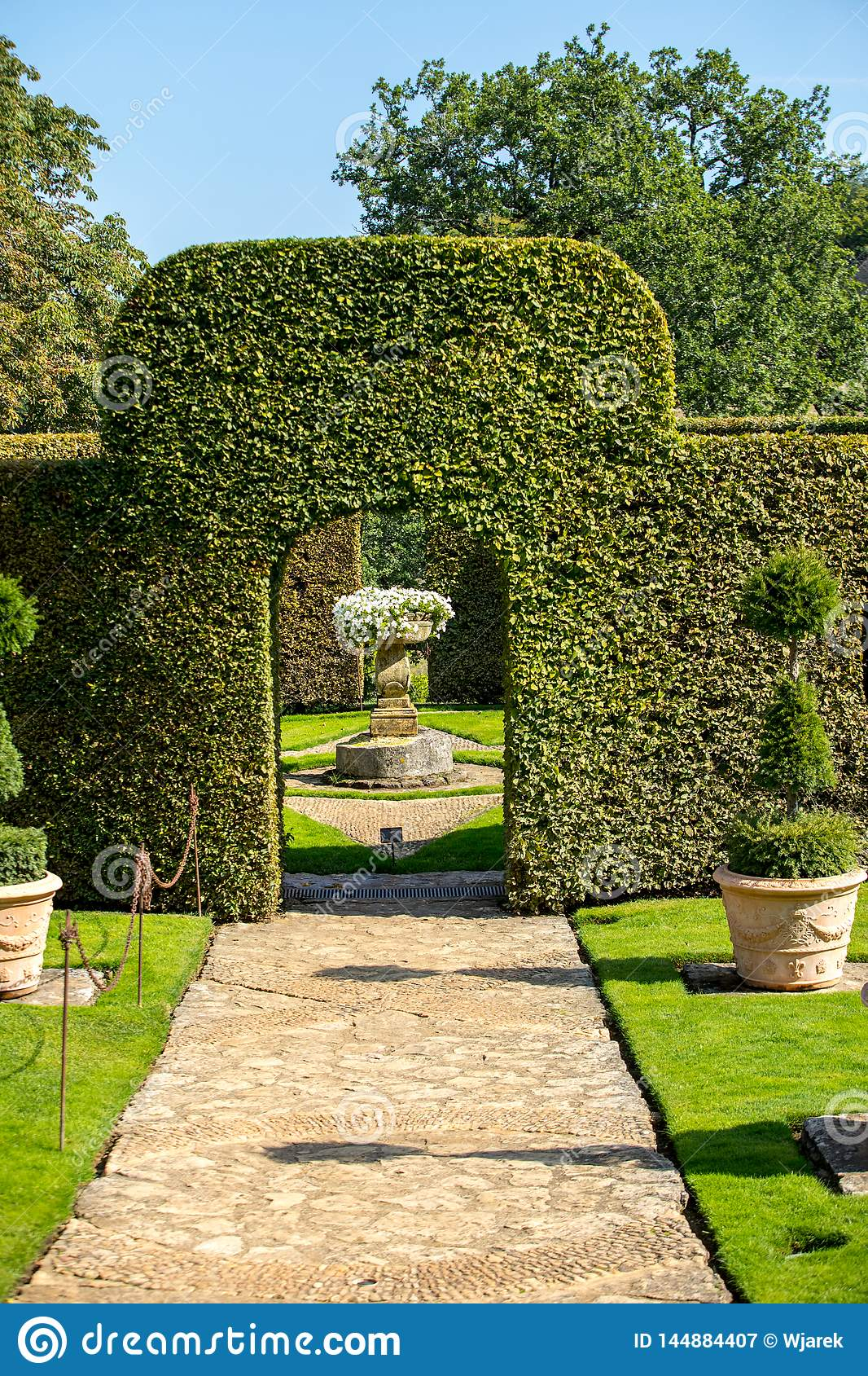 The picturesque Jardins du Manoir d Eyrignac in Dordogne.