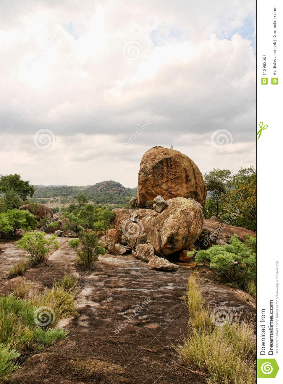 The picturesque rock formations of the Matopos National Park, Zimbabwe