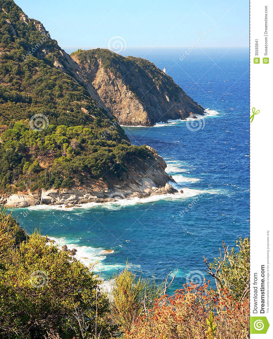 Elba Island Italy  city images : Picturesque Rocky Coast Of Elba Island, Italy Stock Image Image ...