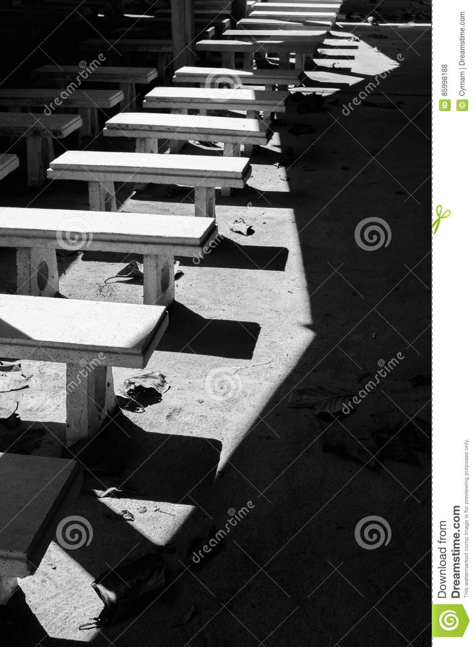 Pleasant Picturesque Rows Of White Stone Benches Perfectly Aligned Alphanode Cool Chair Designs And Ideas Alphanodeonline
