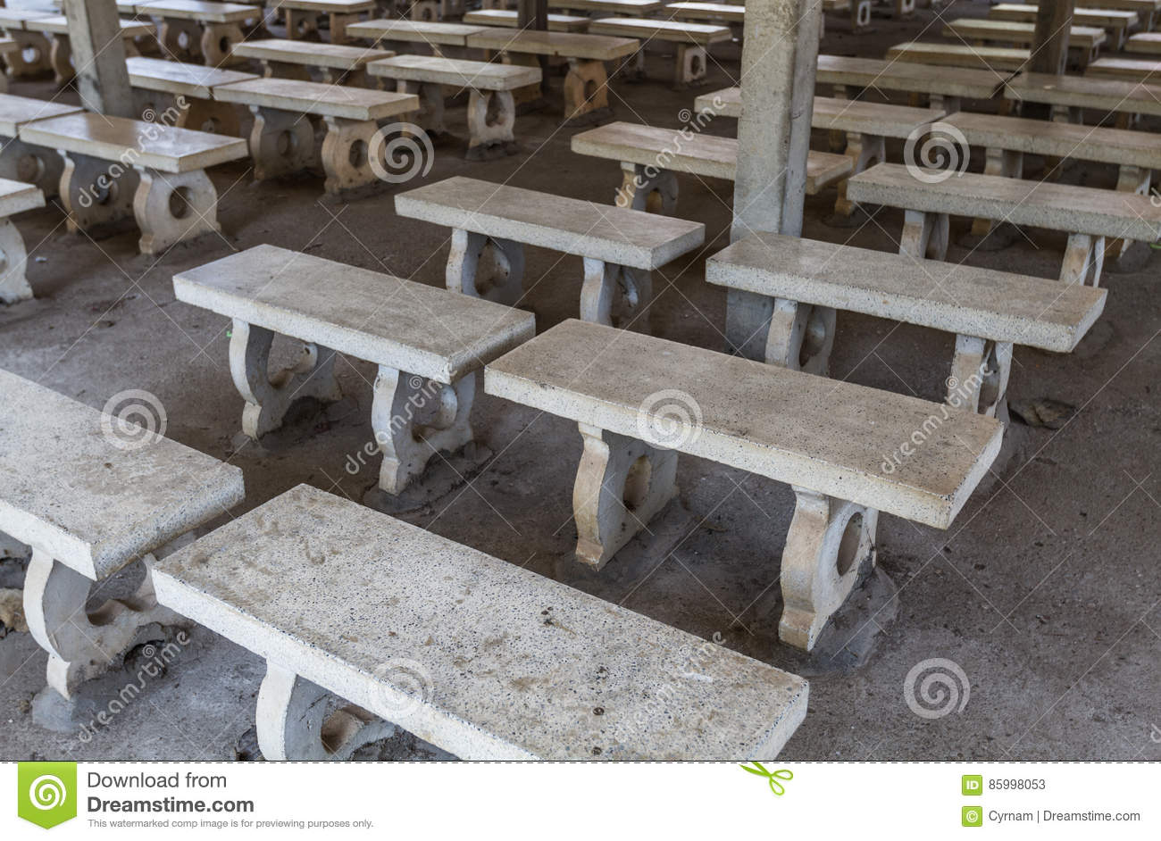 Awesome Picturesque Rows Of White Stone Benches Perfectly Aligned Alphanode Cool Chair Designs And Ideas Alphanodeonline