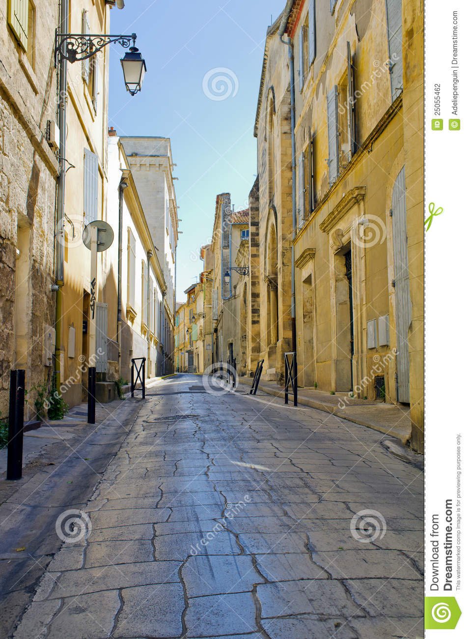 Picturesque Street Arles France Stock Photography Image