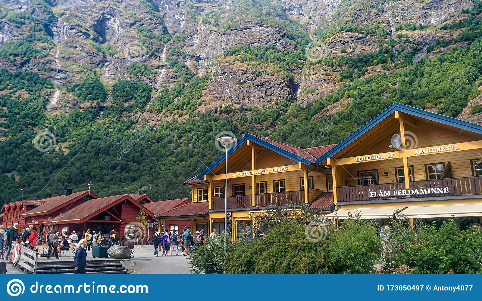 The Picturesque Surroundings Of The Norwegian Village Of Flam Editorial Photography Image Of Landscape Branch 173050497