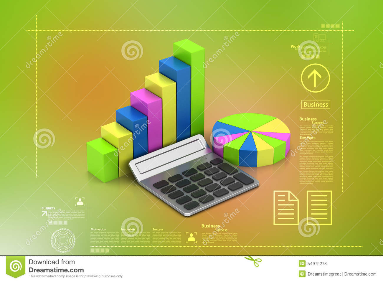 Pie chart and bar graph