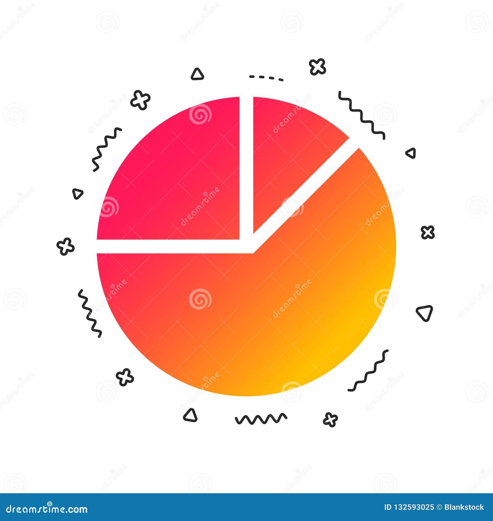 Pie Chart Graph Sign Icon. Diagram Button. Vector Stock ...