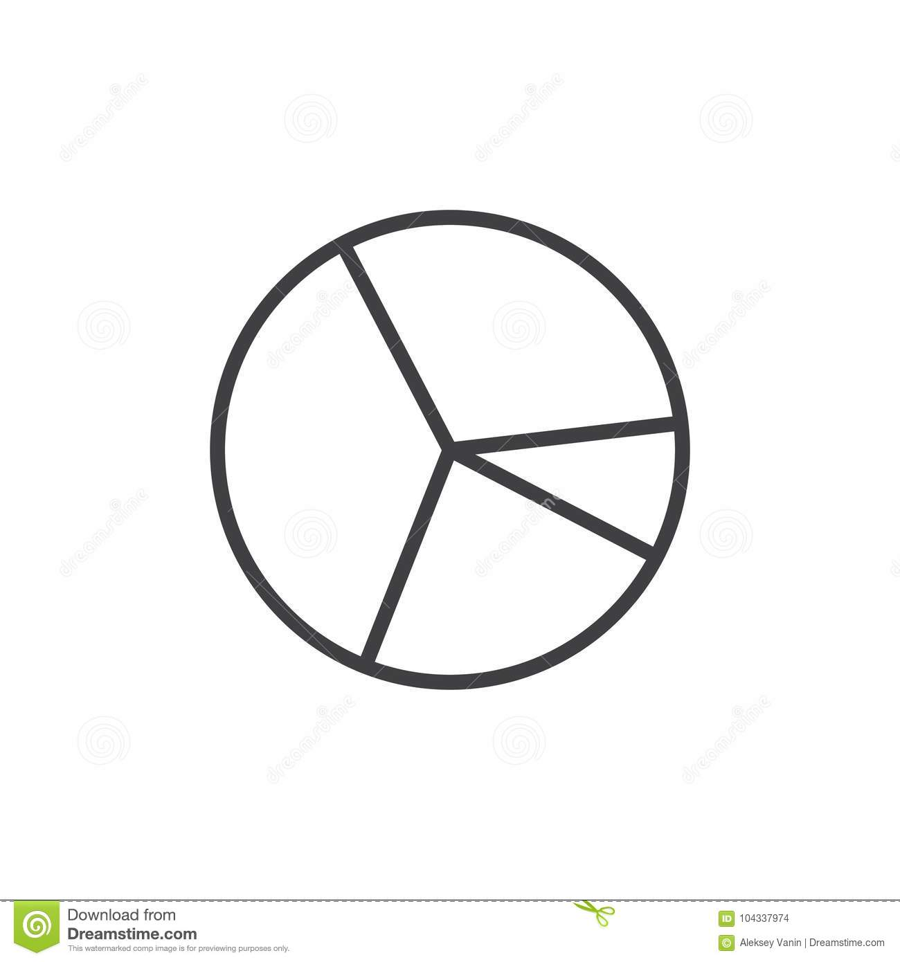 Pie chart line icon stock vector illustration of chart 104337974 pie chart line icon ccuart Image collections