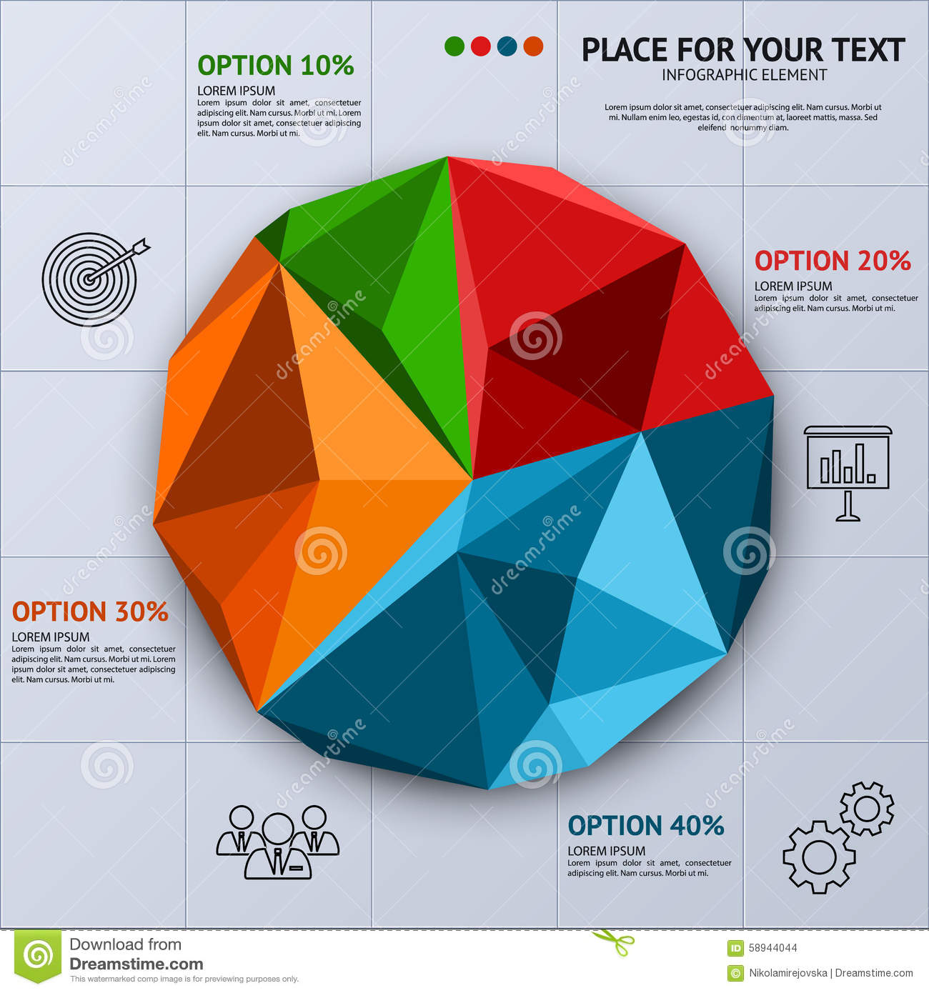 Pie chart in polygon style business statistics stock vector pie chart in polygon style business statistics graph concept geenschuldenfo Choice Image