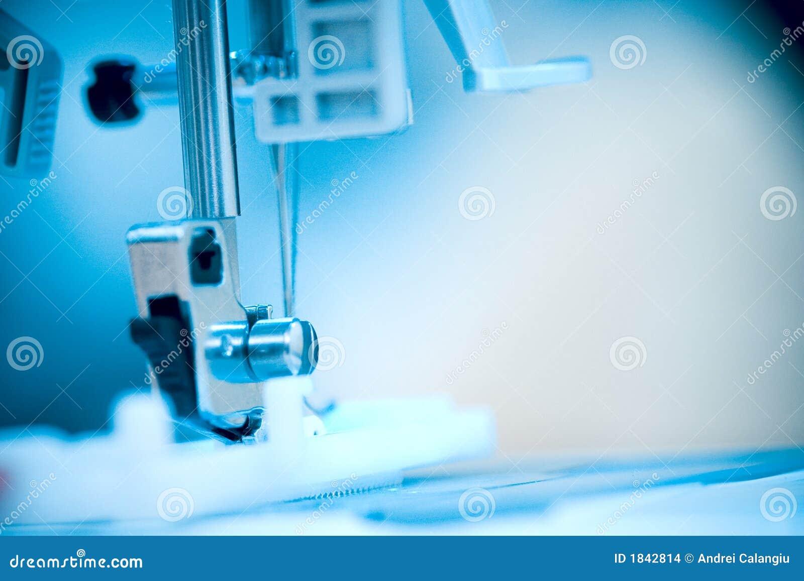 Pie de la máquina de coser.