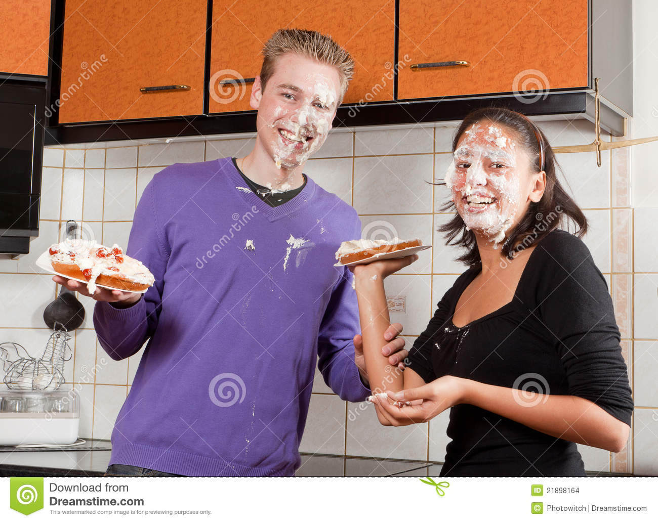 After The Pie Fight Stock Photo Image Of Fight Funny
