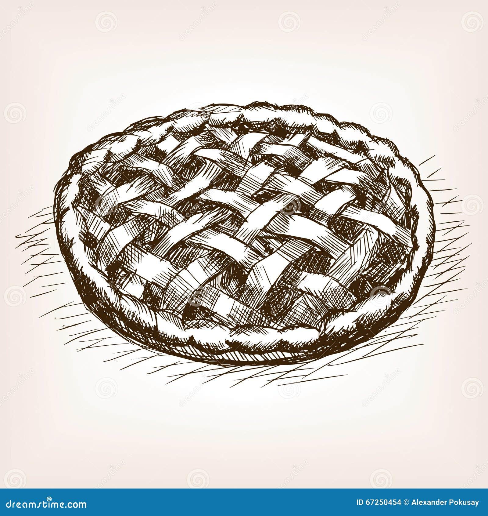 Baking Ingredients Clipart Pie Hand Drawn Sketch ...
