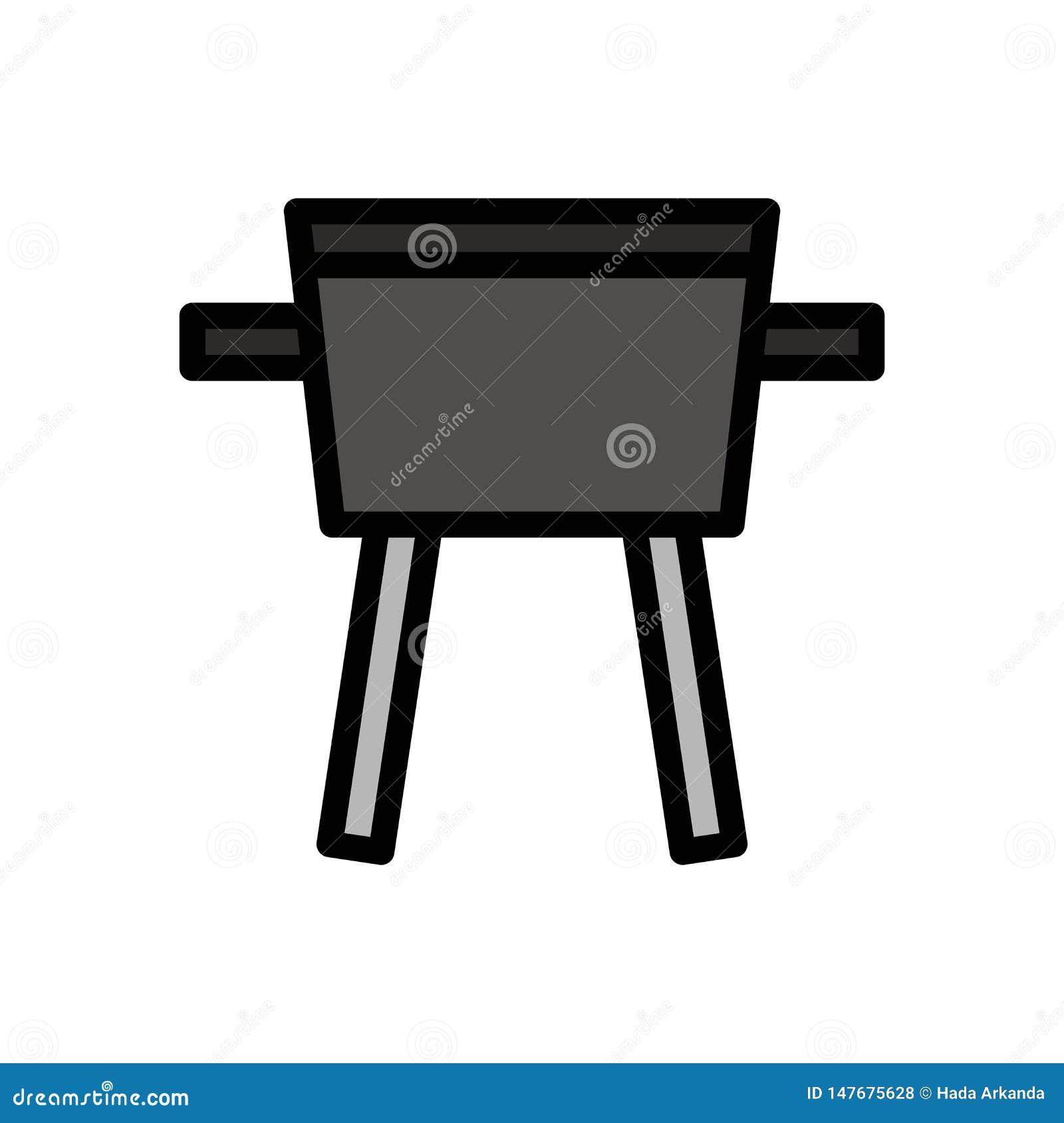 Piec na grillu grilla lata logo wektorową ikonę lub ilustrację Editable kolor i uderzenie Doskonali? u?ywa dla wzoru i projekta g