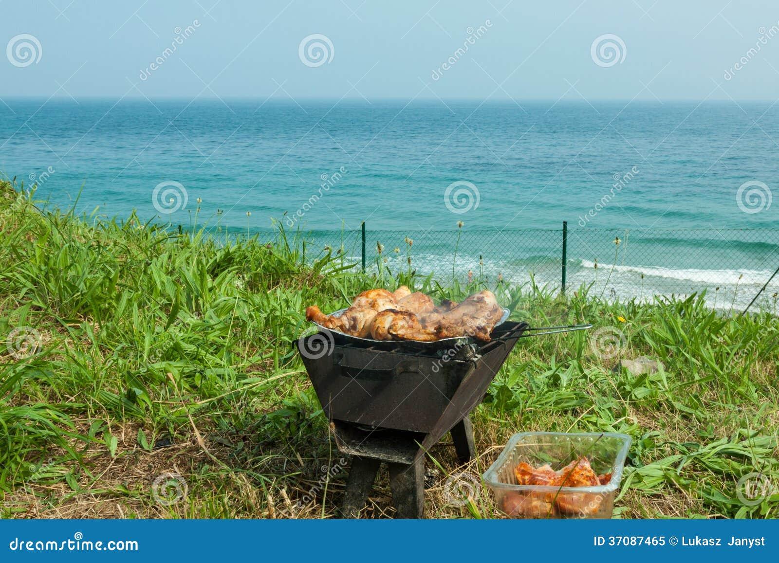 Download Piec Na Grillu Kurczaków Uda Na Płomiennym Grillu. Obraz Stock - Obraz złożonej z kawałki, pieczeń: 37087465