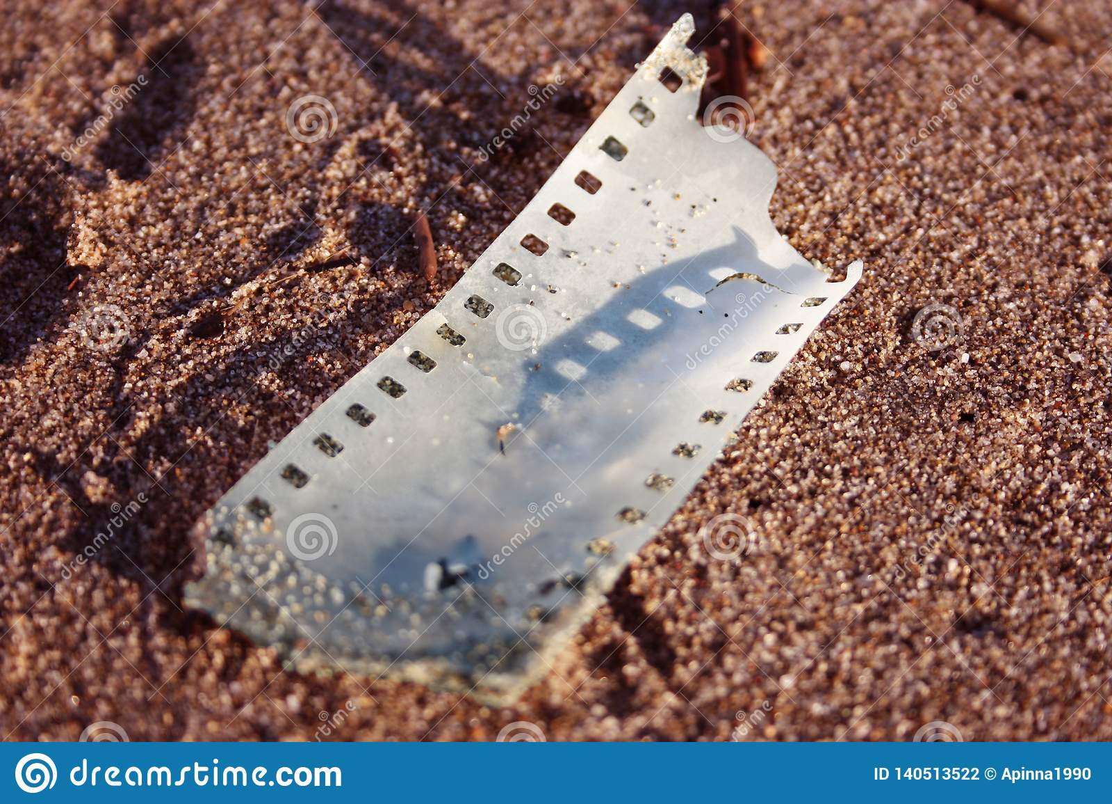 Piece of analogue strip film