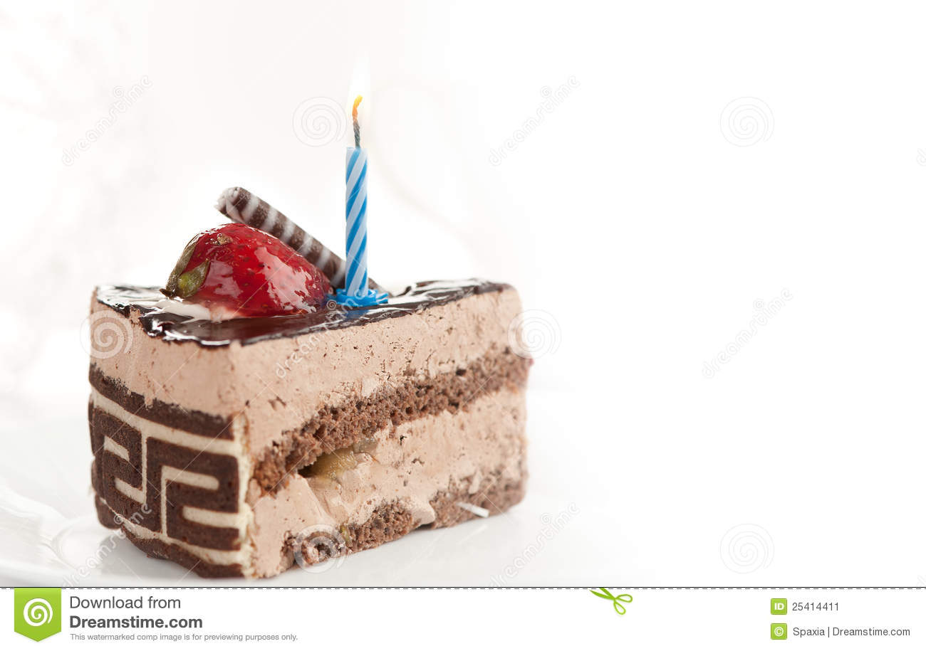 Birthday Cake Pieces Images ~ Piece of birthday cake stock image temptation