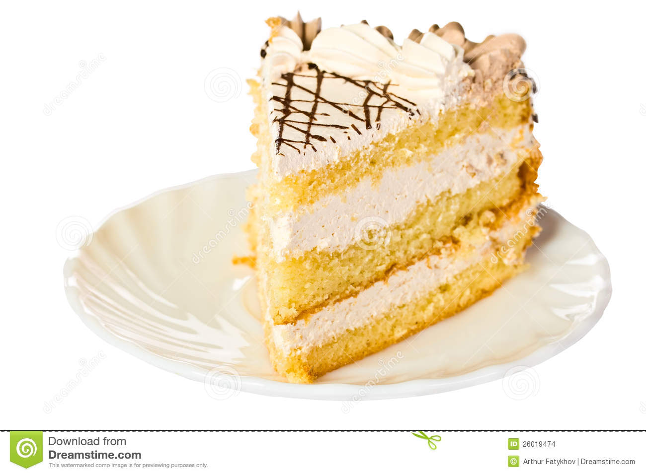 Cake Images Piece : Piece Of Birthday Cake Stock Images - Image: 26019474