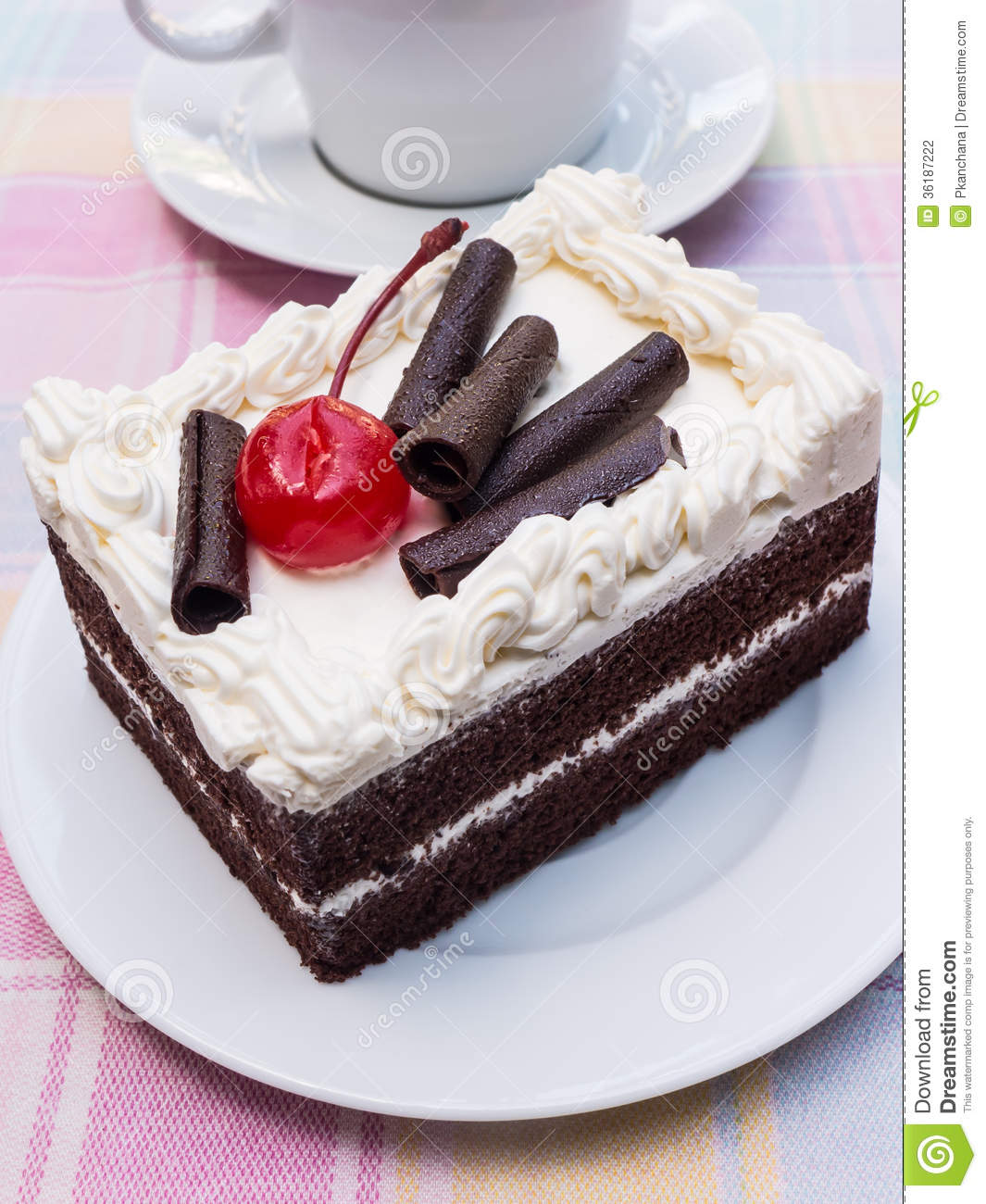 Piece Of A Black Forest Cake. Stock Photography - Image ...
