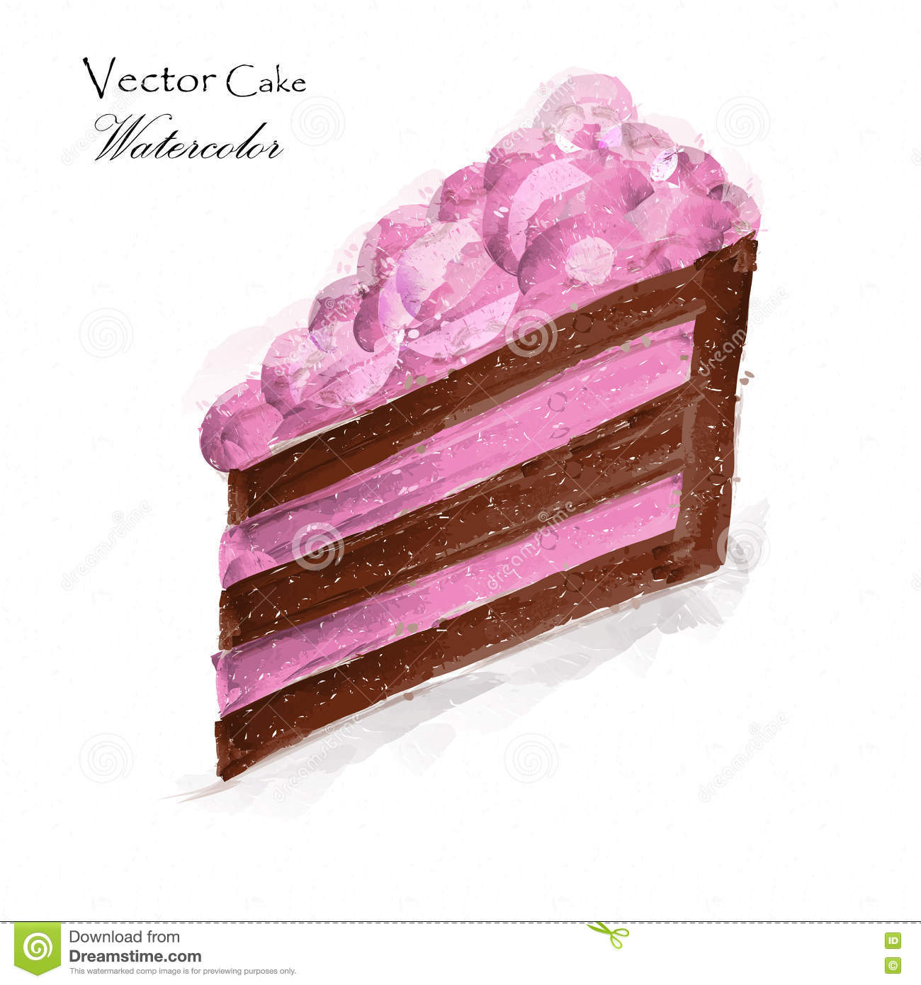 A Piece Of Cake Stock Vector Image 76754013