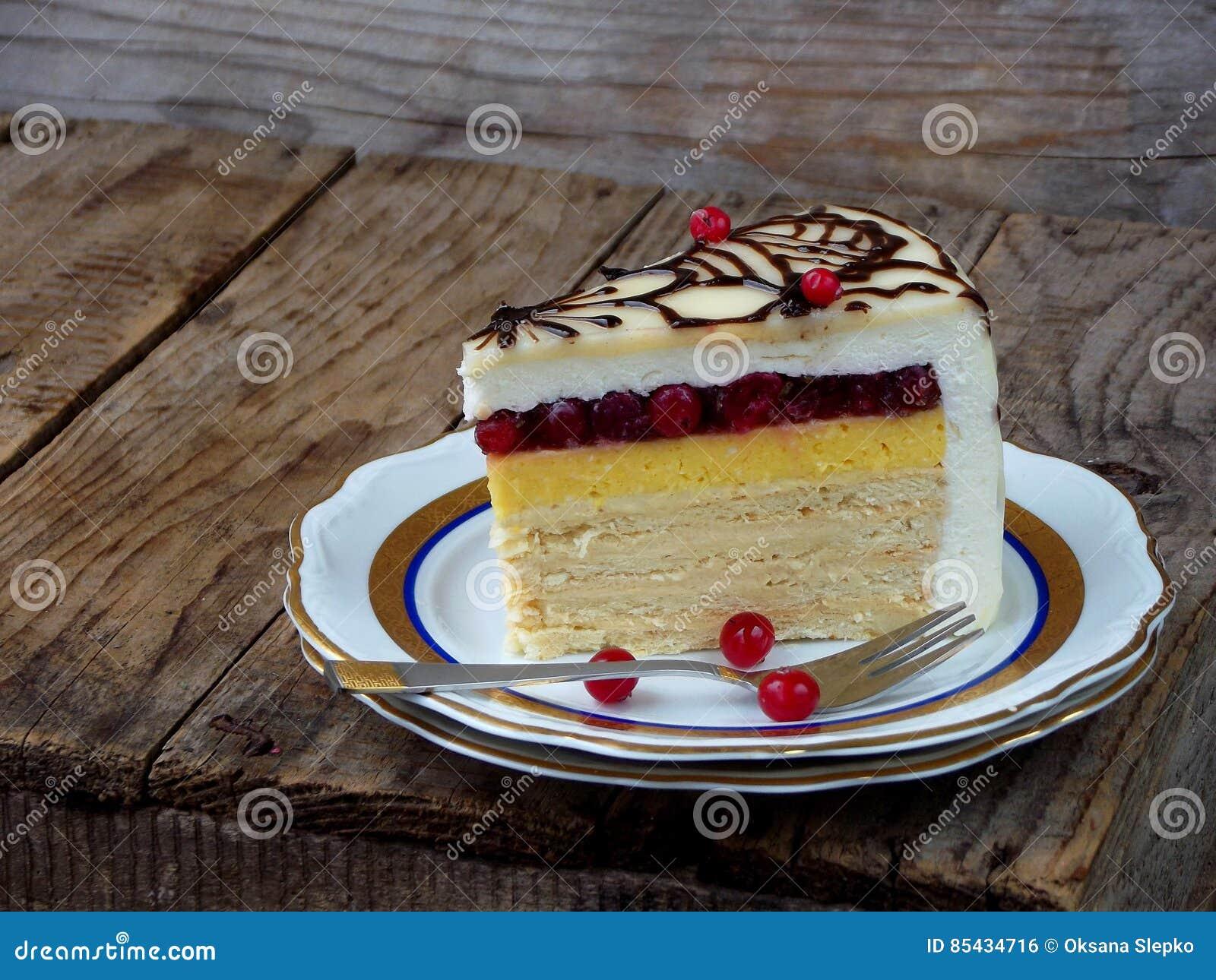 Piece Of Cake Napoleon Crispy Cakes With Cream Orange Cream