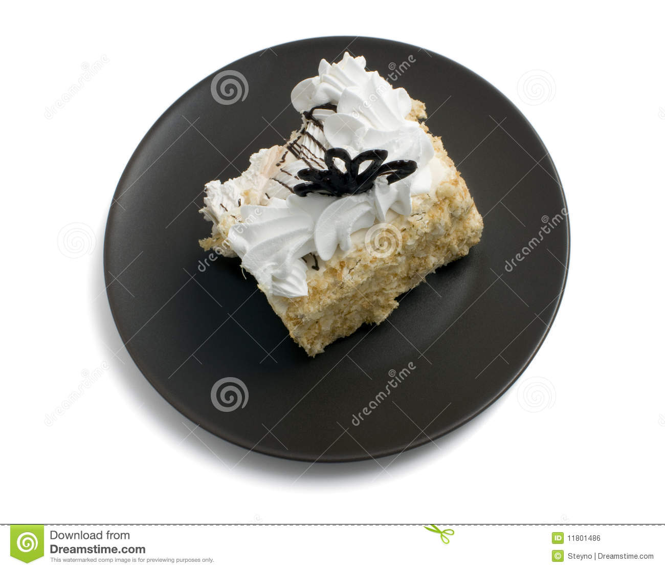 Clipart Slice Of Cake On A Plate : Piece Of Cake On A Plate Royalty Free Stock Image - Image ...