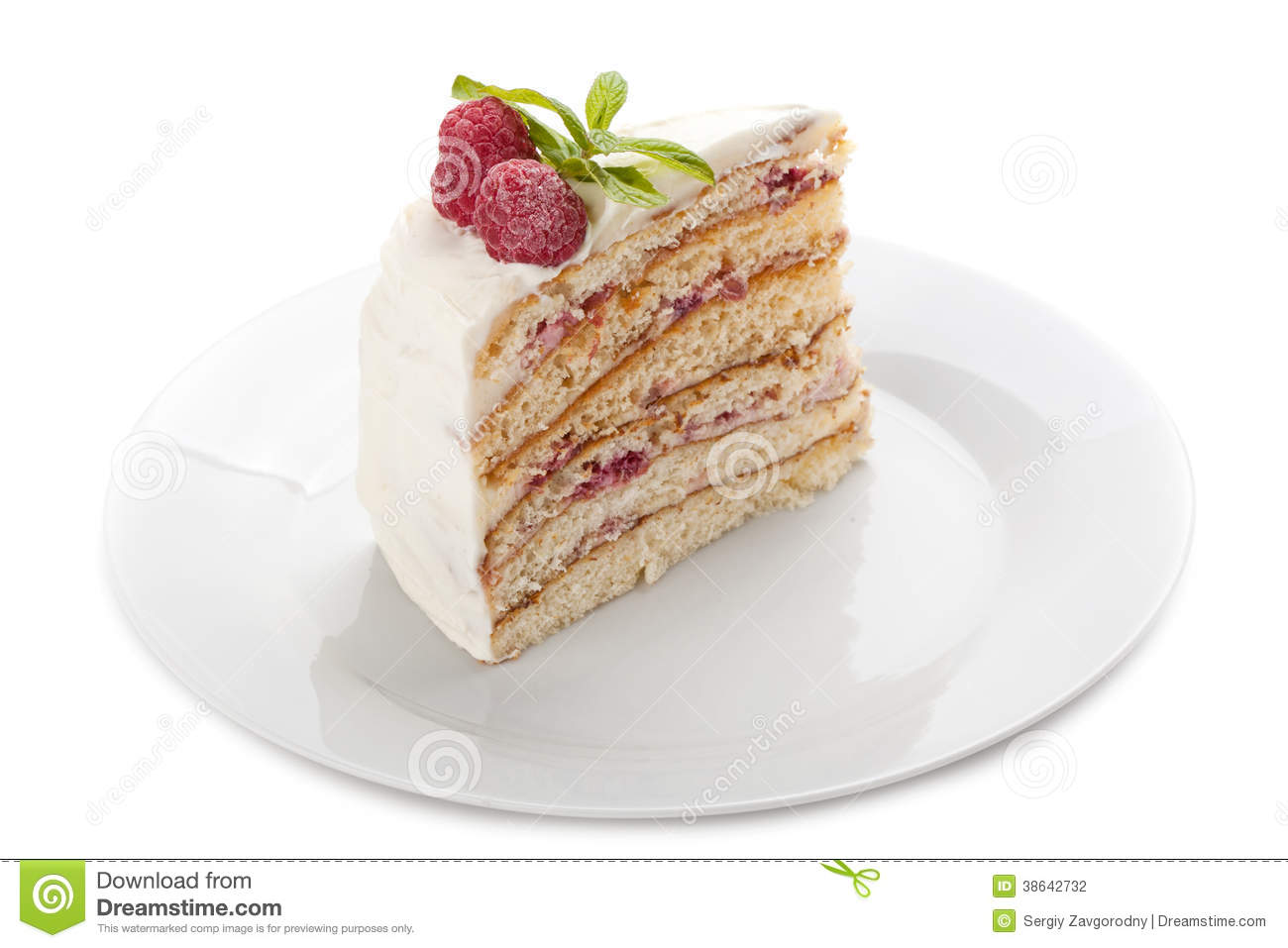 Clipart Slice Of Cake On A Plate : Piece Of Cake On A Plate. Stock Photography - Image: 38642732