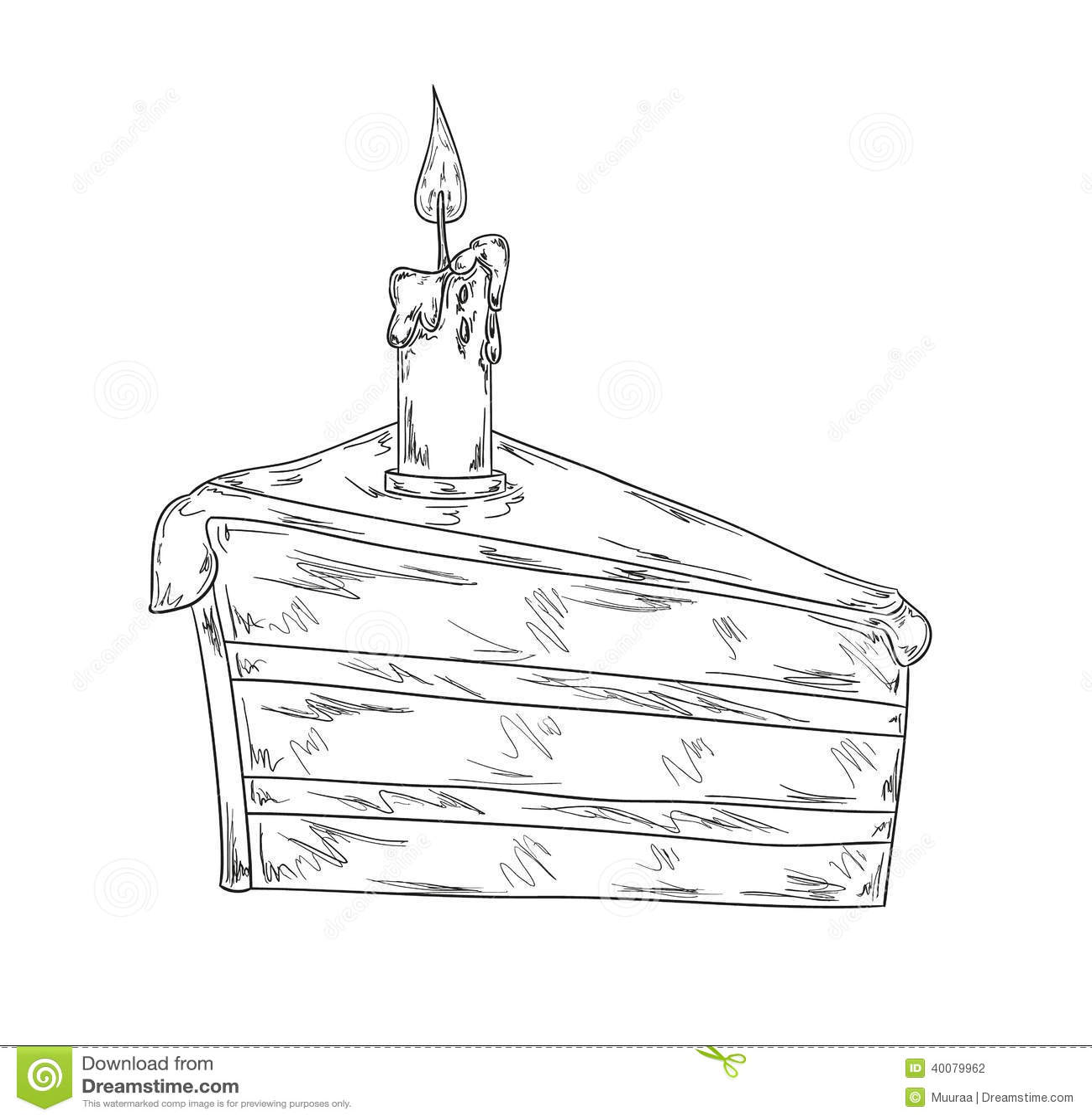 Chocolate Layer Cake Sketch