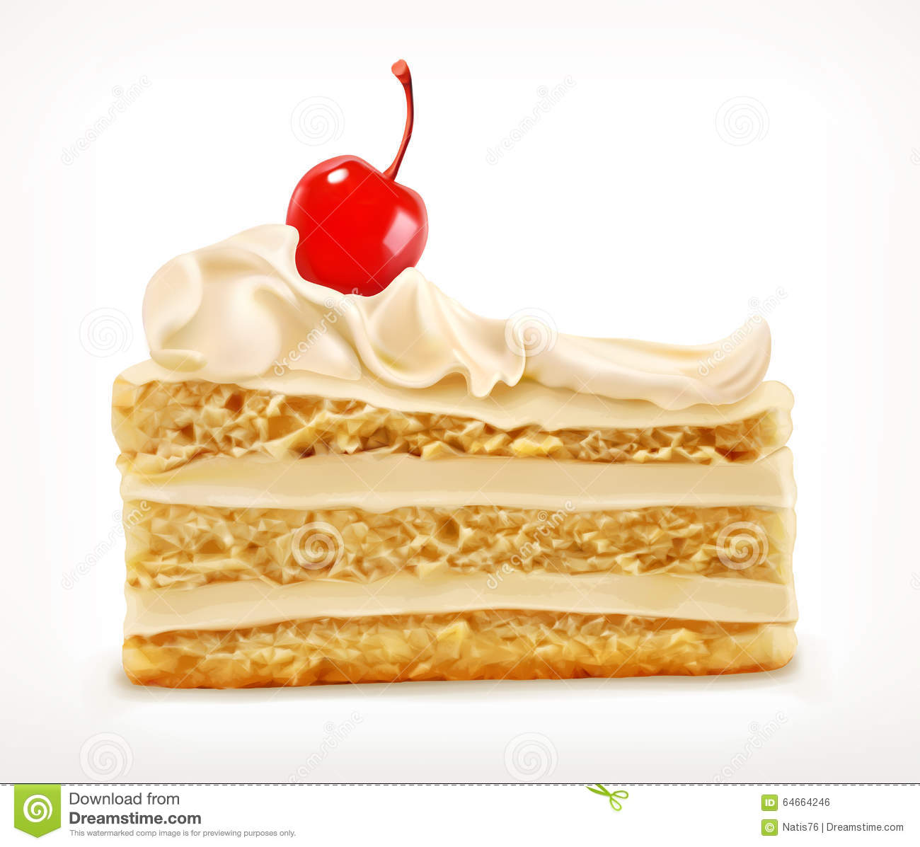 Piece Of Cake, Vector Icon Stock Vector - Image: 64664246