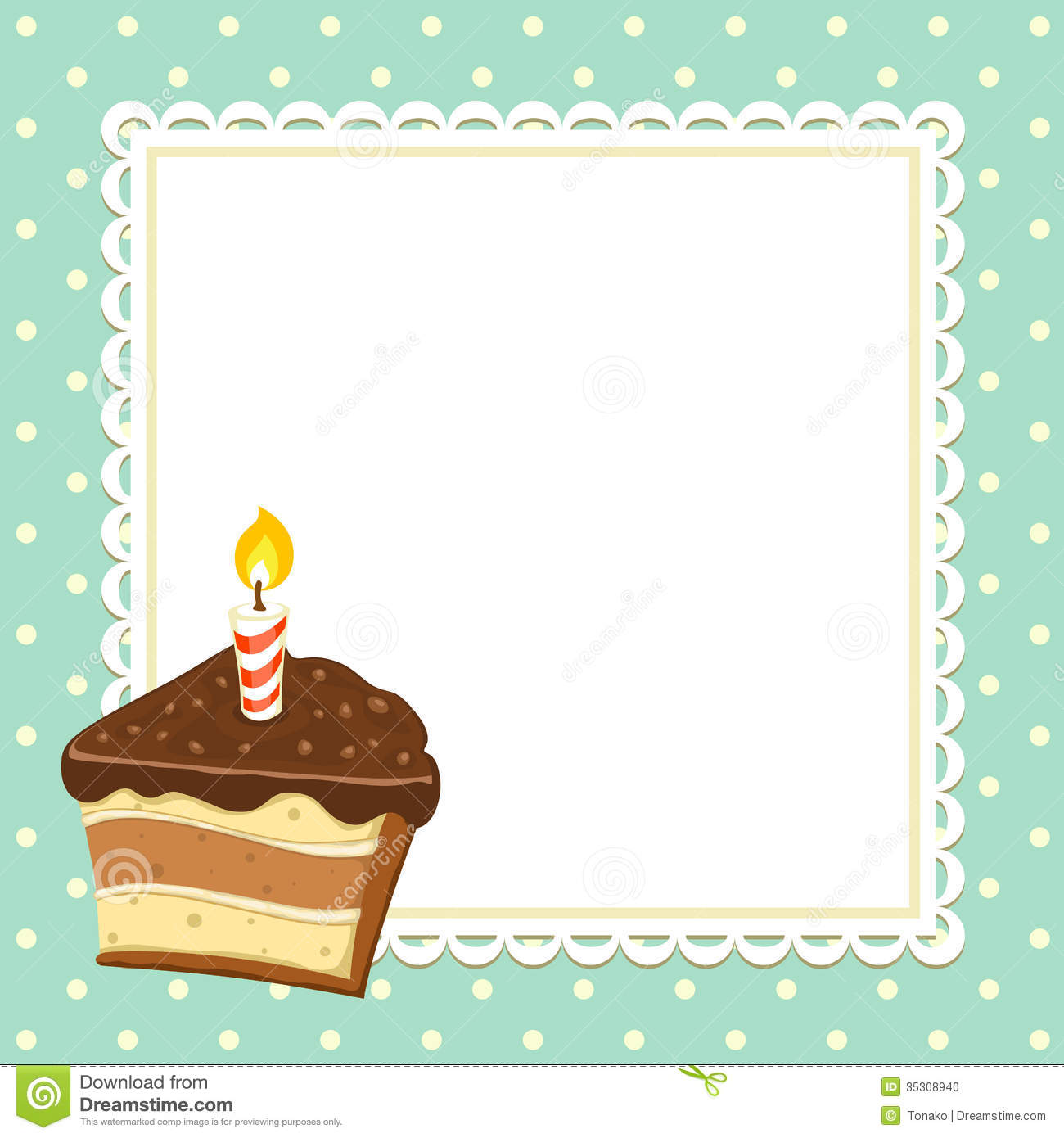 Piece of Cake stock vector. Image of delicious, invitation ...