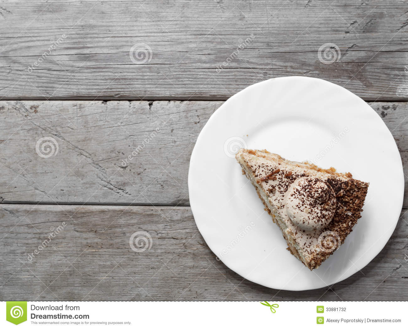 Piece of cake stock photo. Image of appetizing, wooden ...