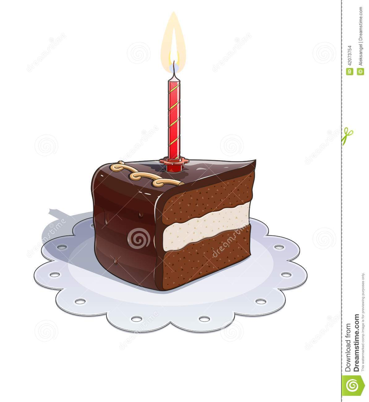 Chocolate Cake Images With Candles
