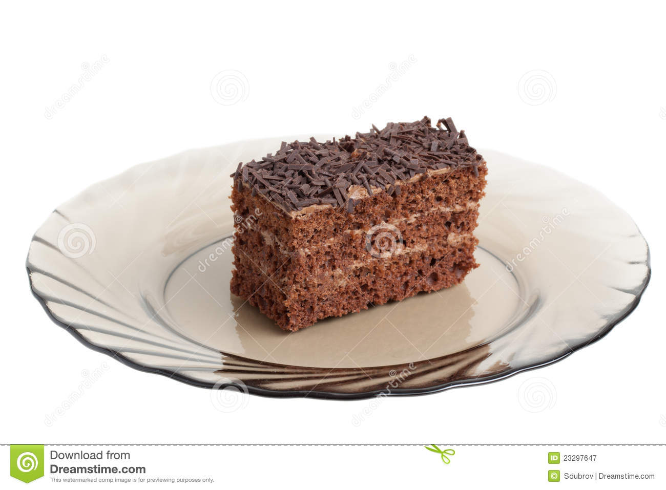 Piece of chocolate cake on a glass plate  sc 1 st  Dreamstime.com & Piece Of Chocolate Cake On A Glass Plate Stock Image - Image of food ...