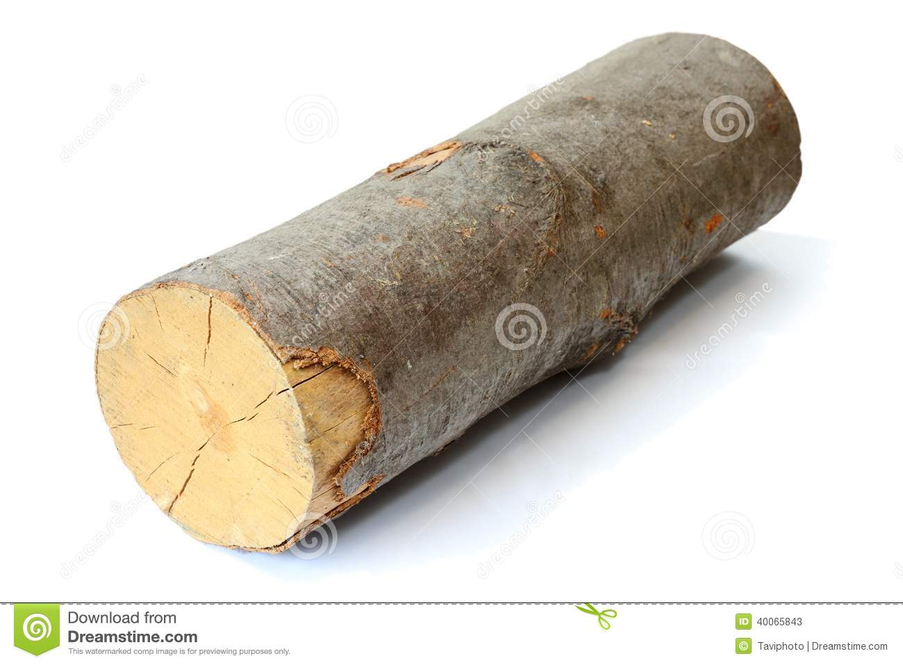 Piece of firewood stock image bark resource