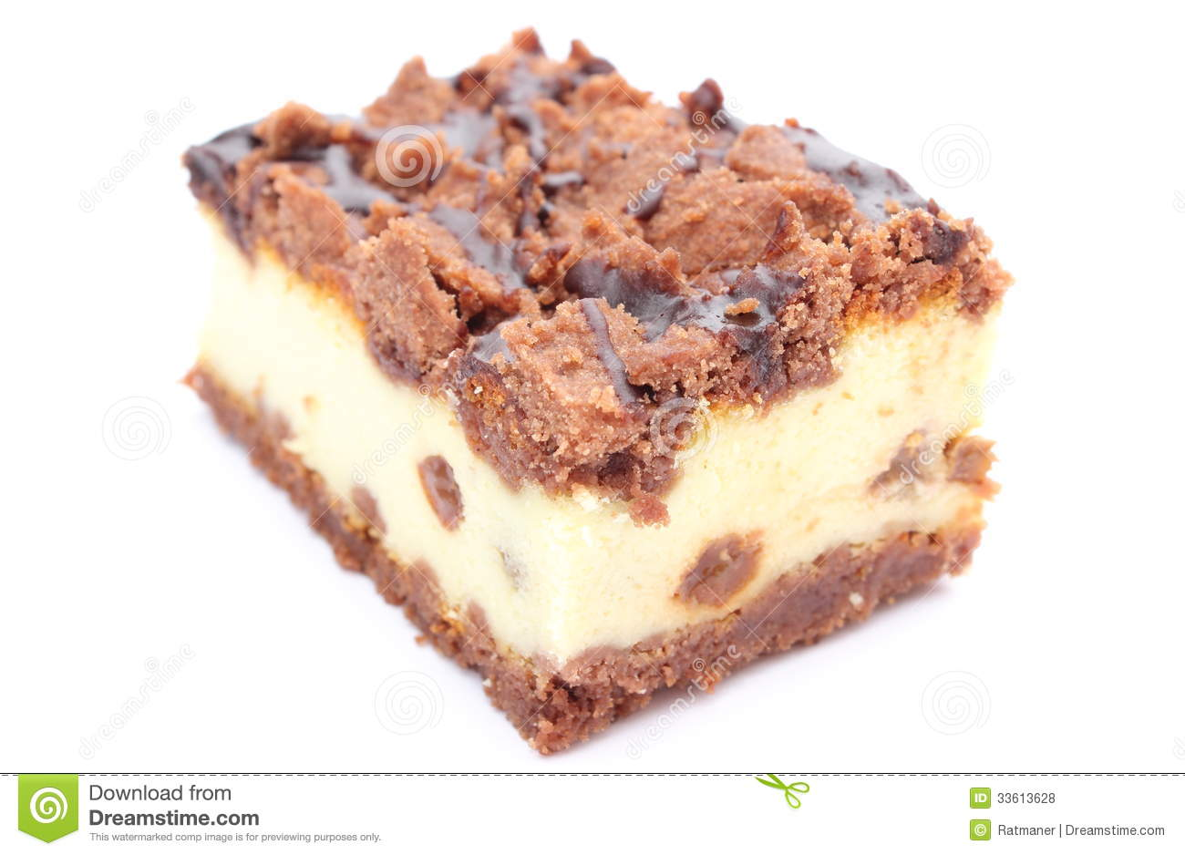Delicious Piece Of A Hazelnut Chocklate Cake Royalty Free