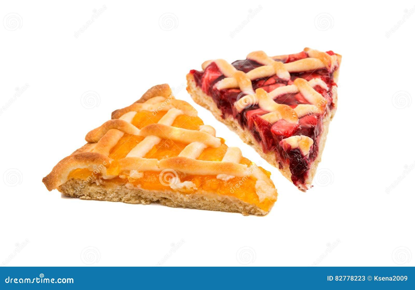 a piece of fruit pie