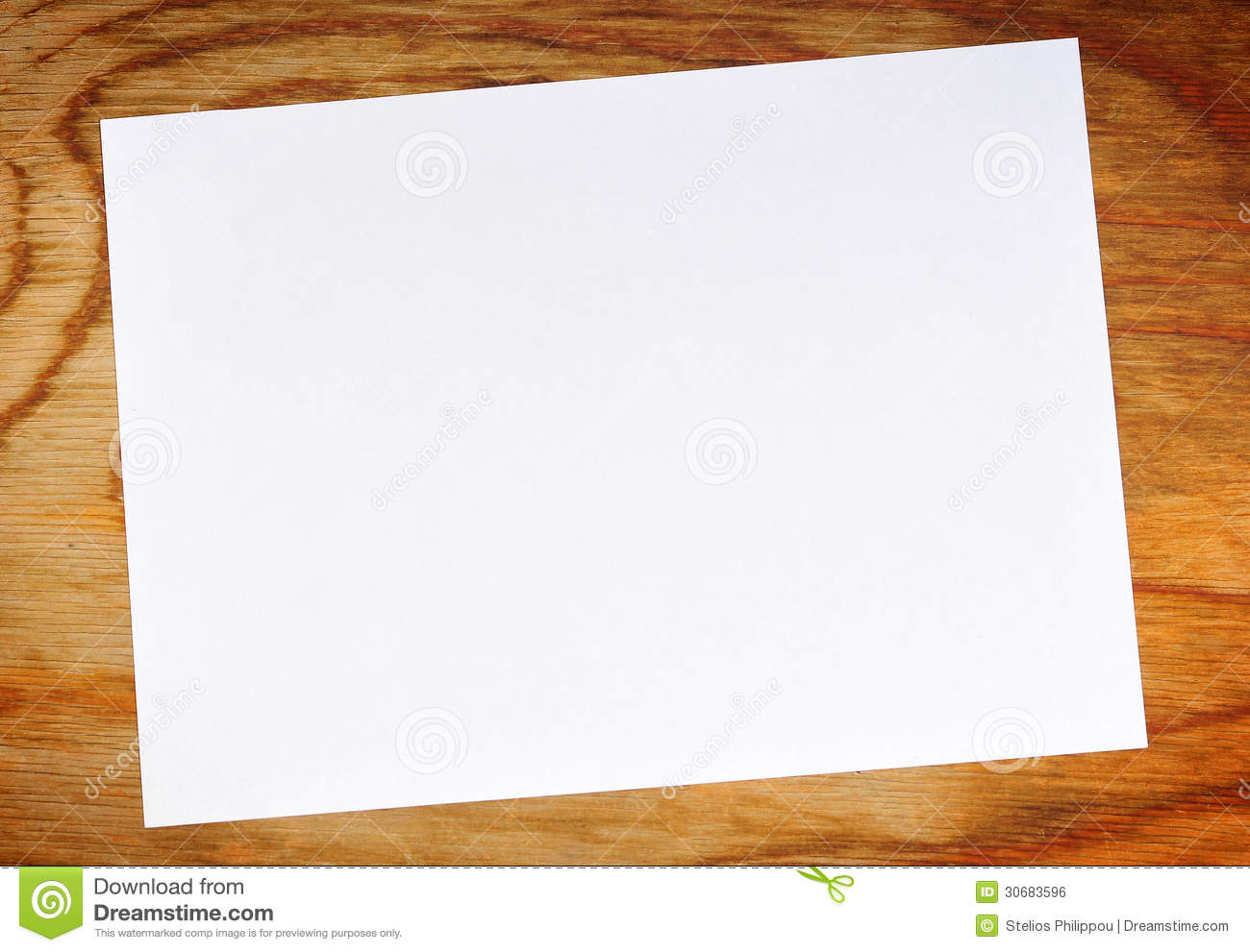 Piece Of Paper Royalty Free Stock Image - Image: 30683596