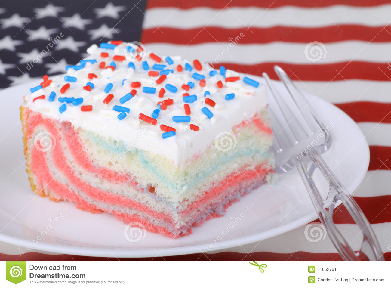 Piece of Patriotic Cake