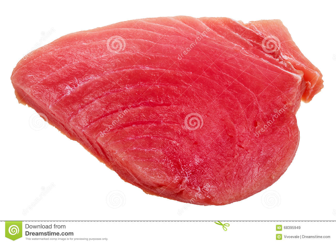 Piece of raw tuna fish meat isolated on white stock photo for Is fish meat