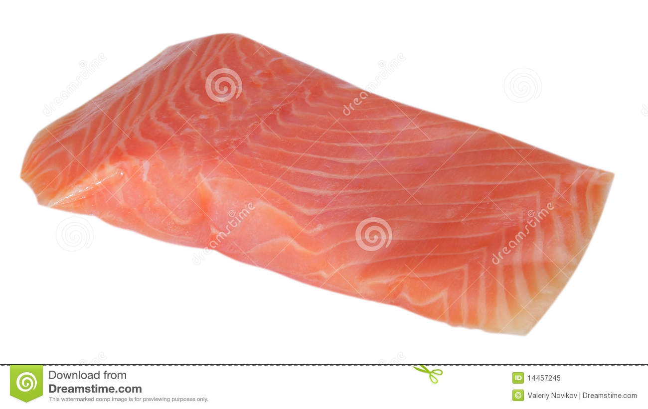 piece of red fish fillet isolated royalty free stock photo
