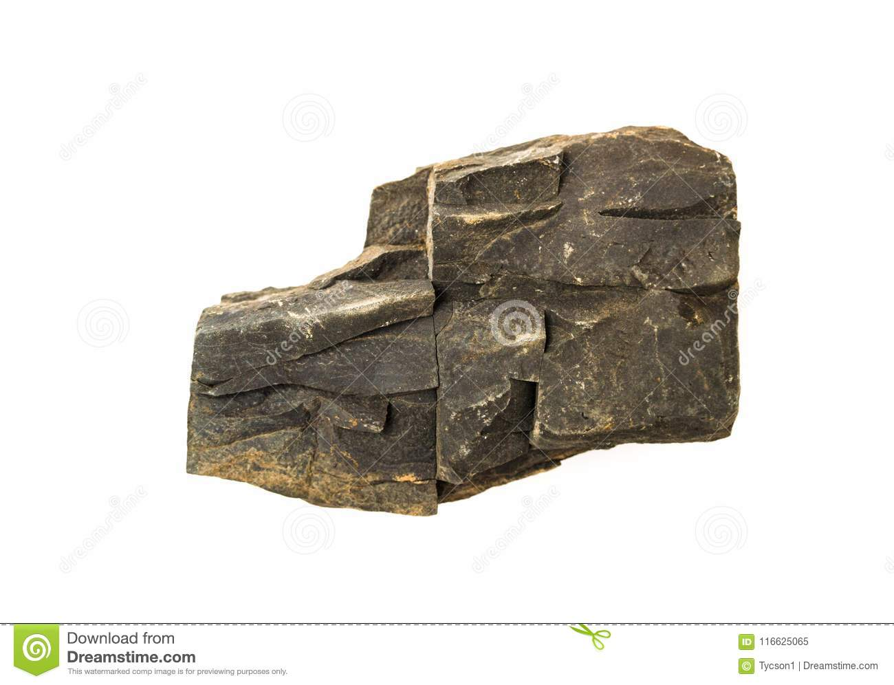 Piece of rock isolated