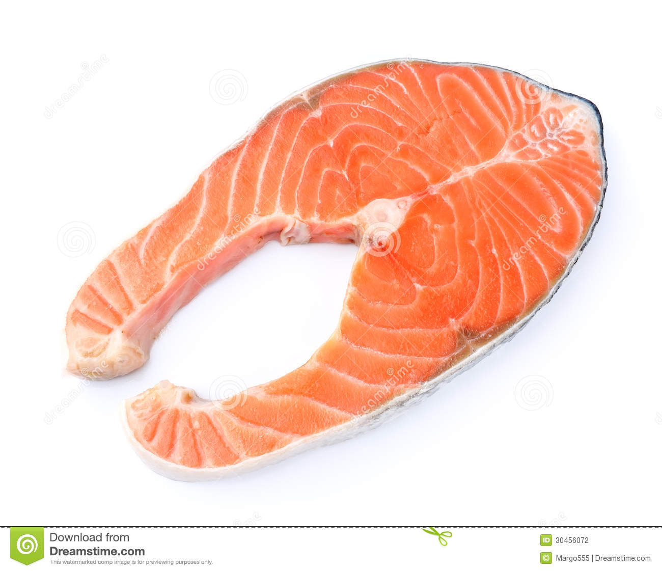 piece of a salmon fish stock photography image 30456072