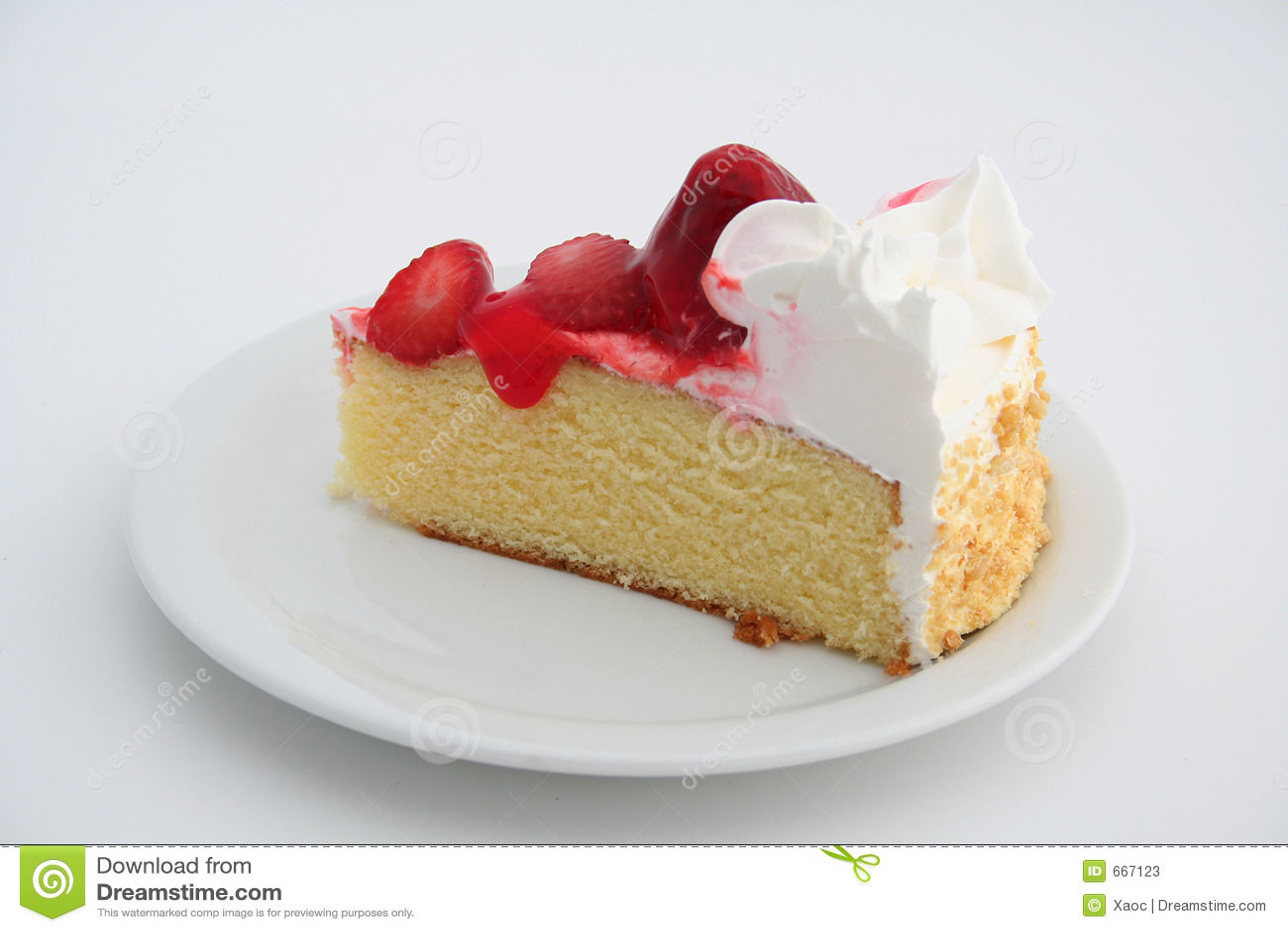 Piece Of Strawberry Cake Stock Photos - Image: 667123