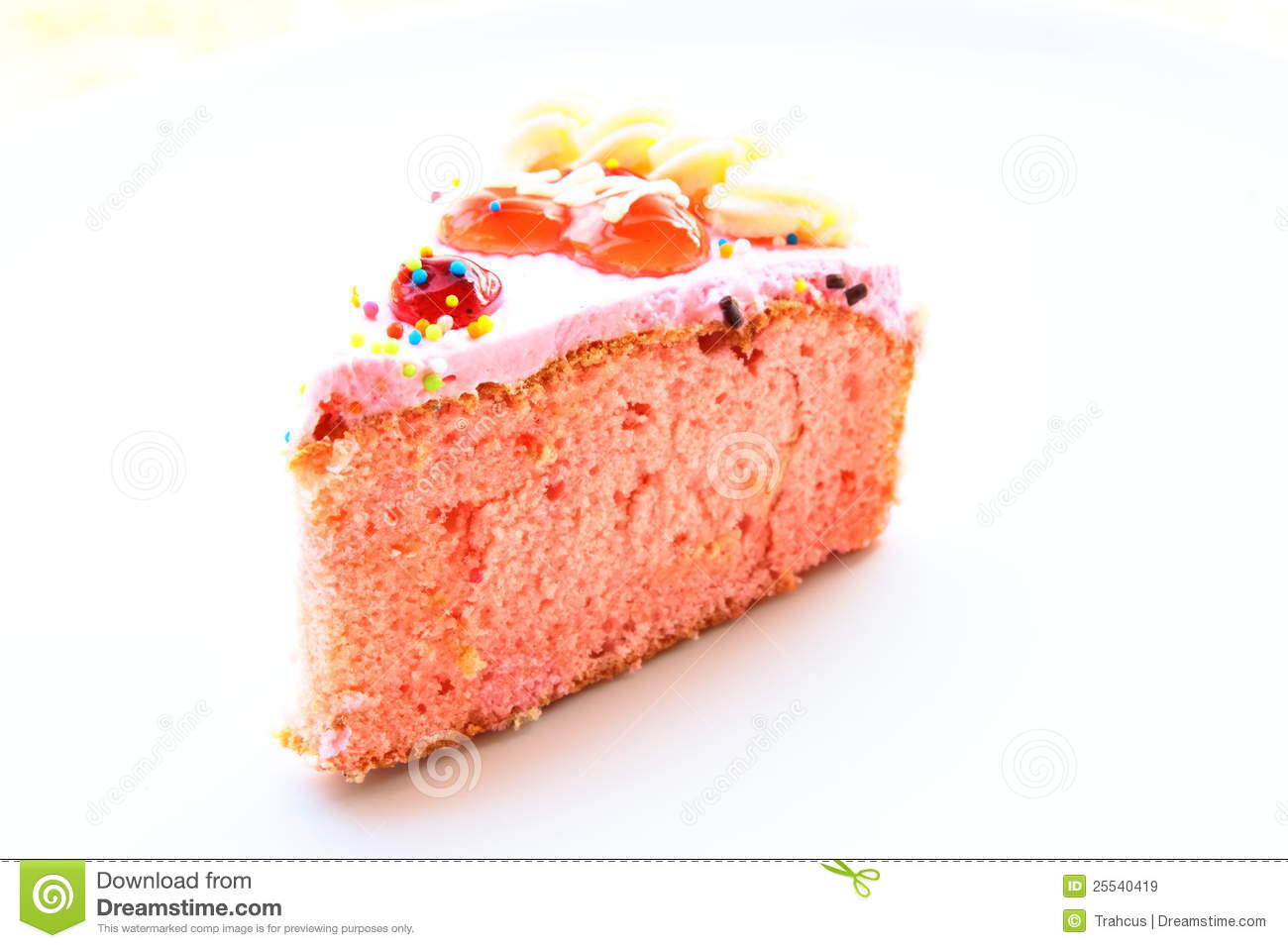 Strawberry Flavour Cake Images : A Piece Of Strawberry Flavor Cake Royalty Free Stock ...