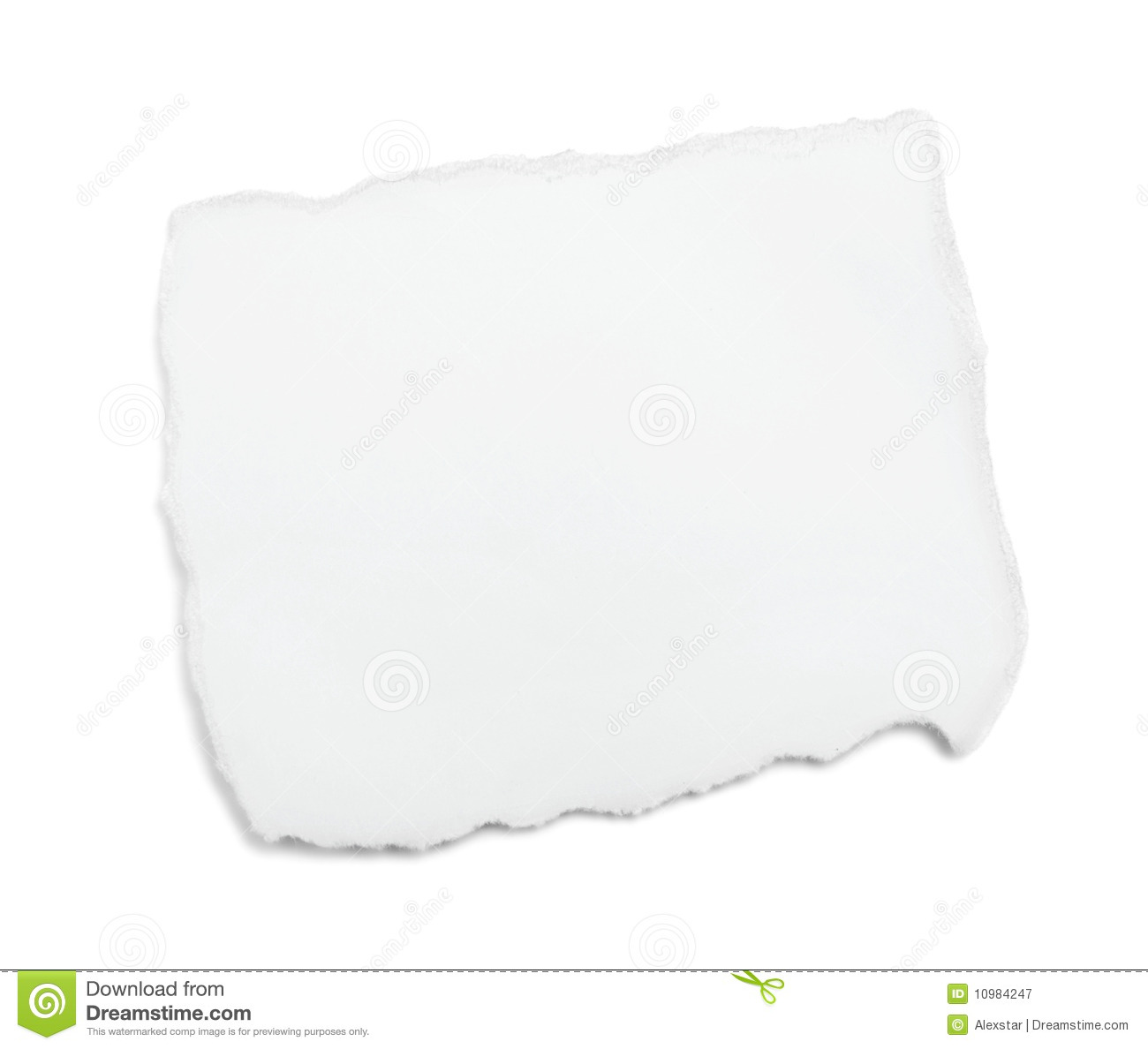 white piece of paper