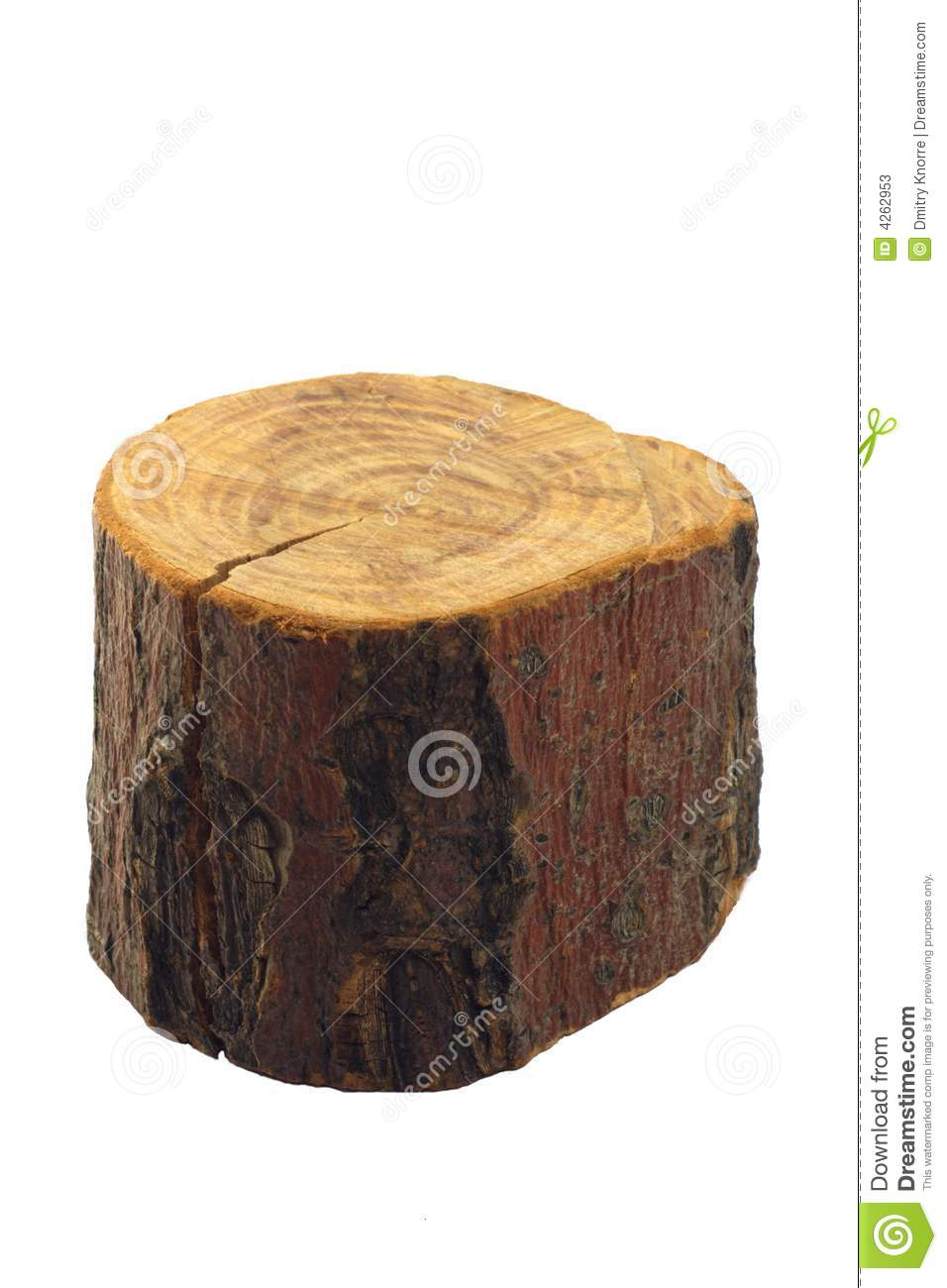 Piece of wood, isolated