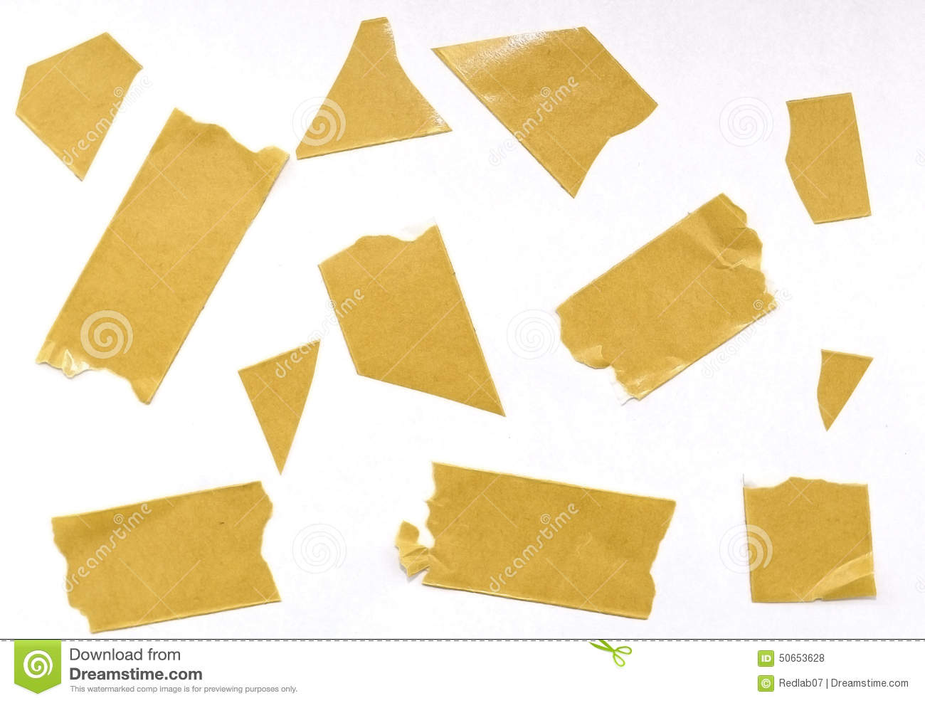 Adhesive Tape Yellow Sticker Stock Images