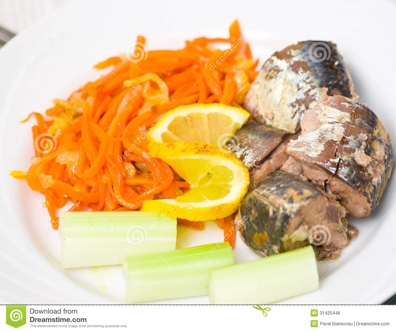 Pieces of fish with vegetables royalty free stock image for Piece of fish