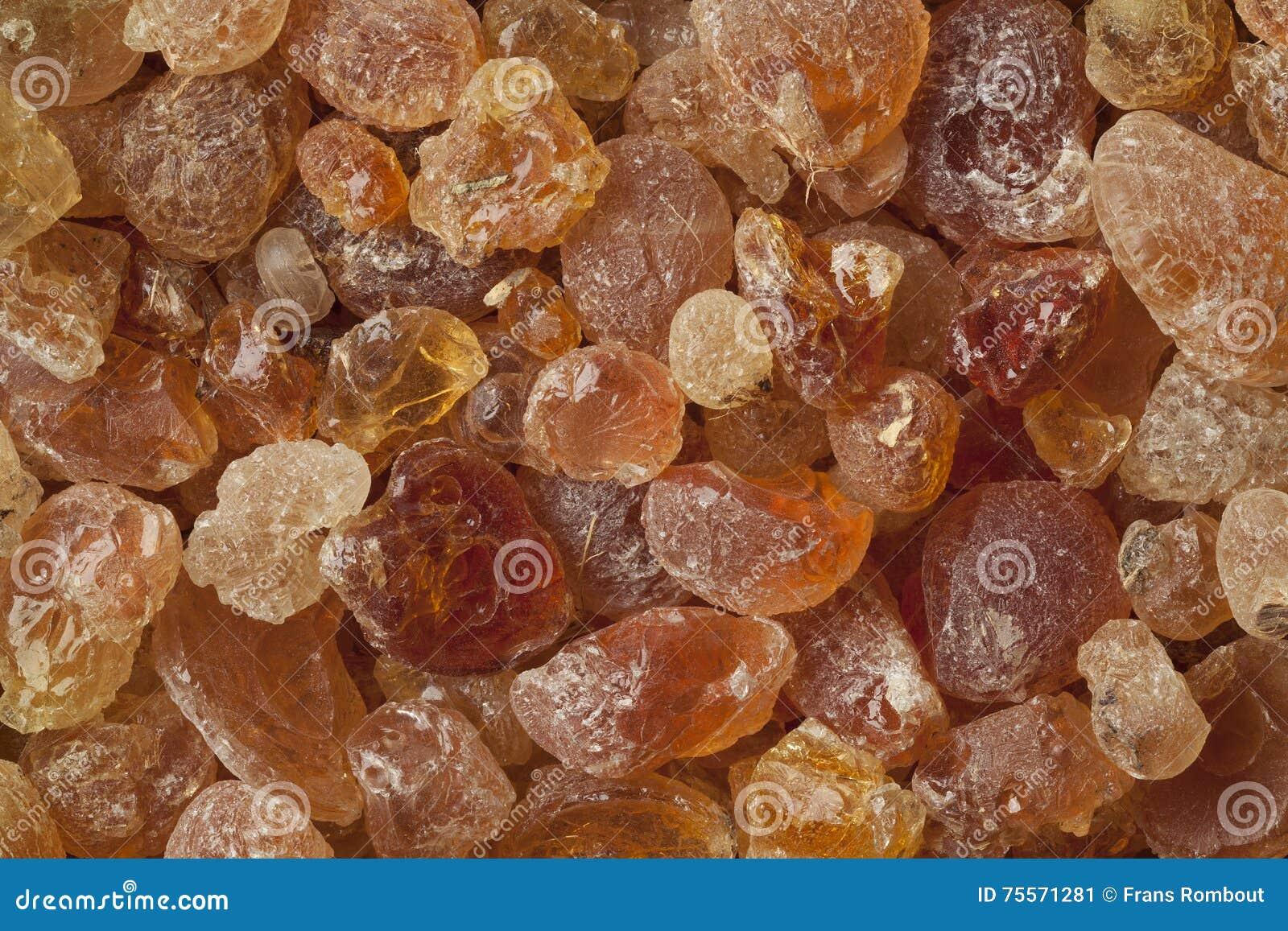 Pieces of Gum arabic